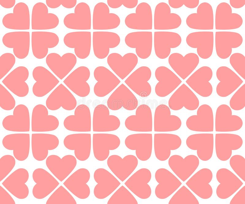 Pink hearts. vector seamless pattern. valentines background stock illustration