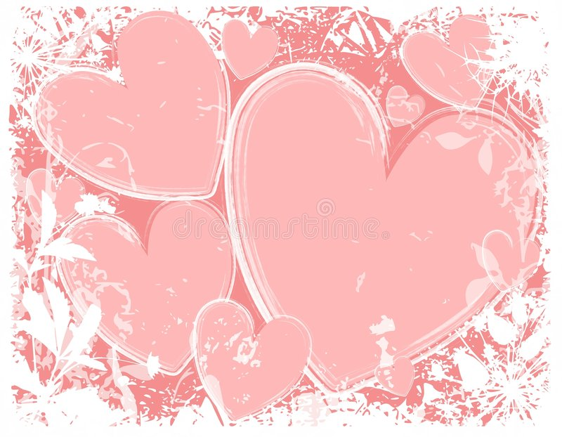 Download Pink Hearts White Grunge Background Stock Illustration - Image: 3979901