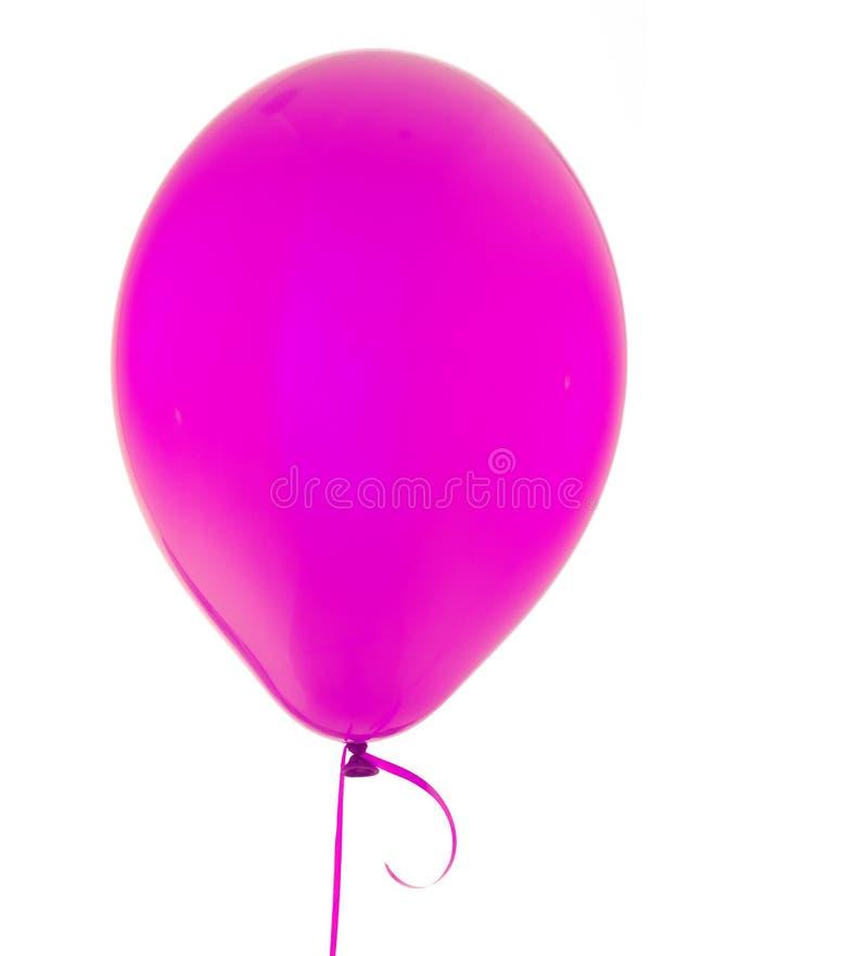 Pink Helium Balloon. Isolated on white royalty free stock photos