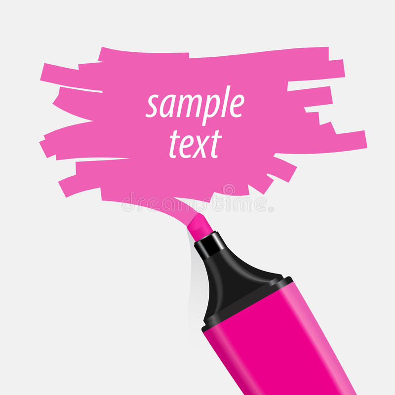 Free Pink Highlighter Vector. Royalty Free Stock Photo - 50299765