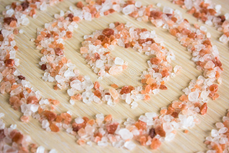 Pink himalayan salt stock photography