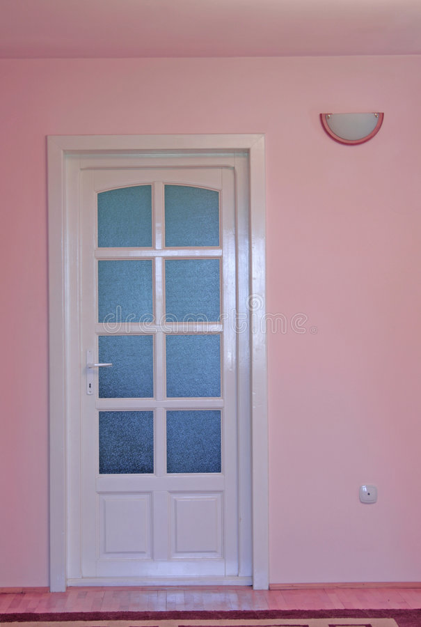 Download Pink Home Interior With Door Stock Image - Image of living, estate: 5867161