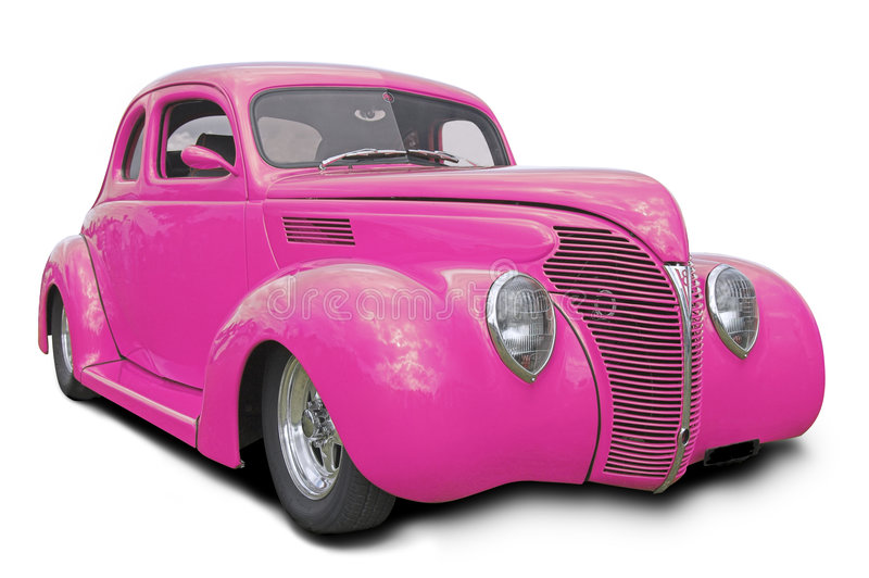 Download Pink Hot Rod stock image. Image of fashioned, isolated - 3034395