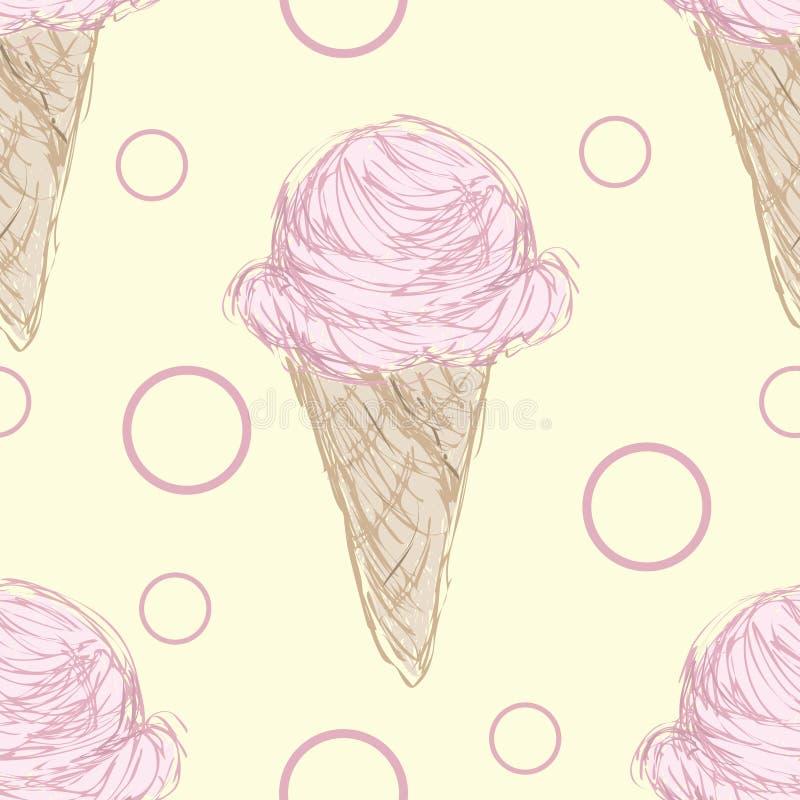 Pink Ice Cream Cone Pattern Stock Image - Image of season, icecream ...
