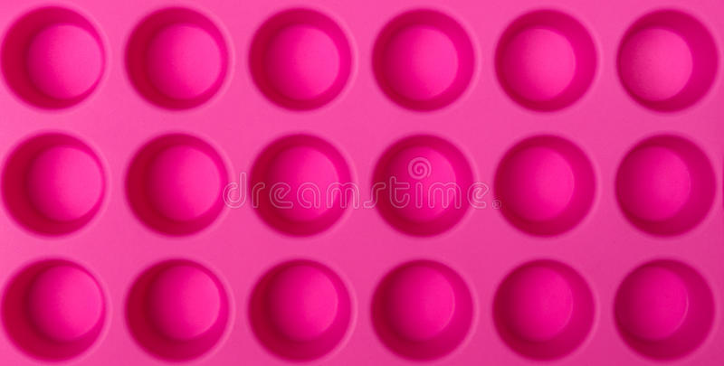 Pink Ice Tray Royalty Free Stock Photo