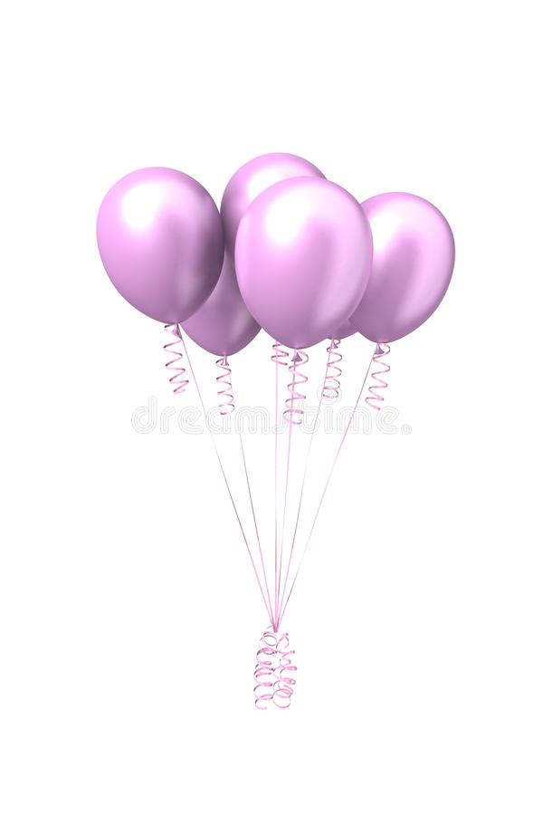 Pink inflatable air balls royalty free stock photo