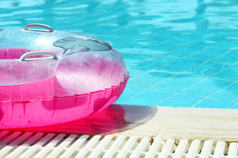 Download Pink inflatable round tube stock image. Image of safety - 17773181