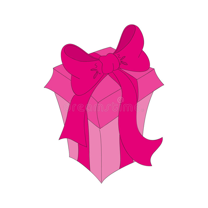 Pink isolated gift