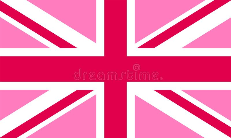 Pink Jack flag - LGBT pride community flag of Great Britain stock illustration