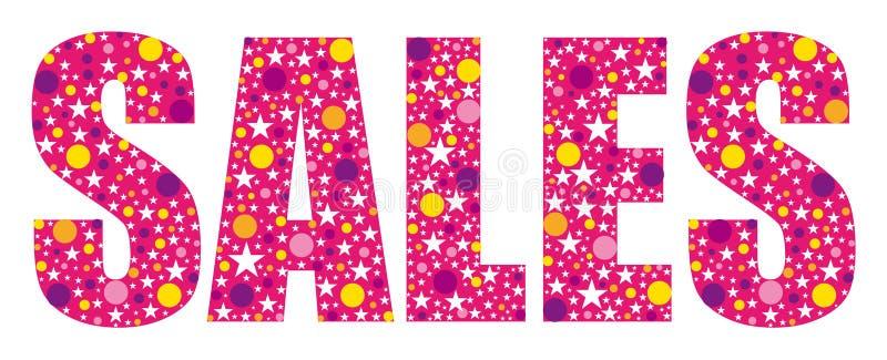 Pink joyful sales banner. Vector commercial illustration vector illustration