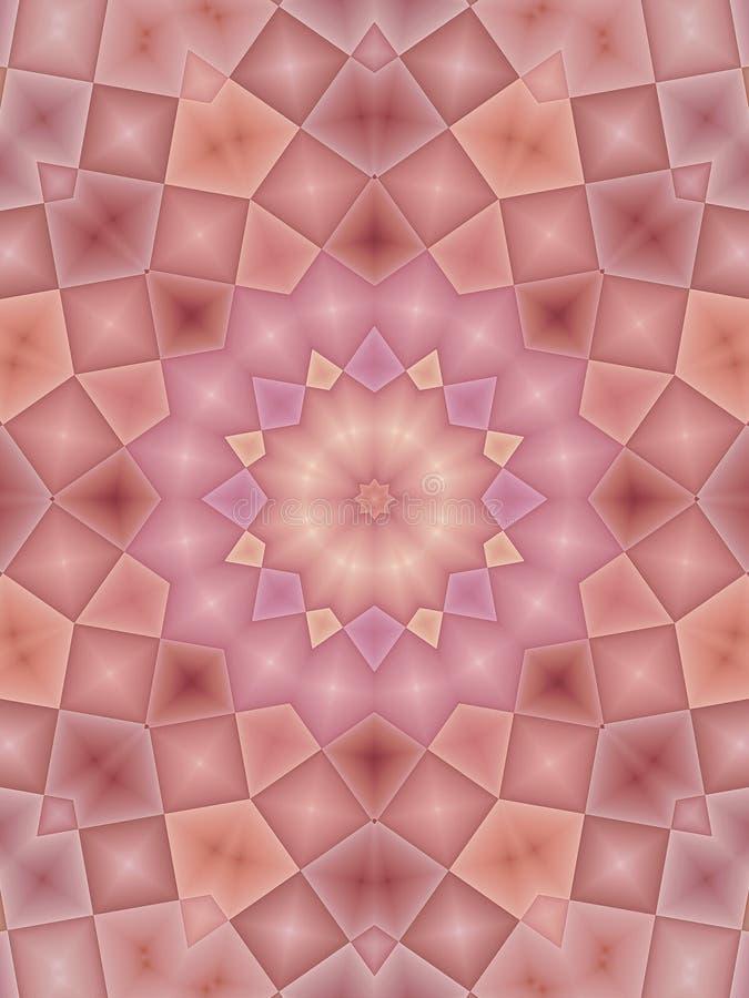 Pink Kaleidoscope Patterns stock illustration