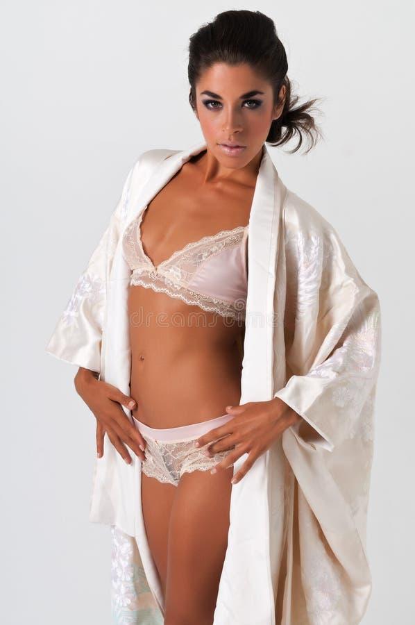 Download Pink kimono stock image. Image of japanese, hispanic - 24995303