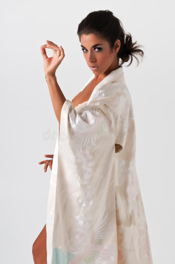 Download Pink kimono stock image. Image of woman, pink, lovely - 24995321