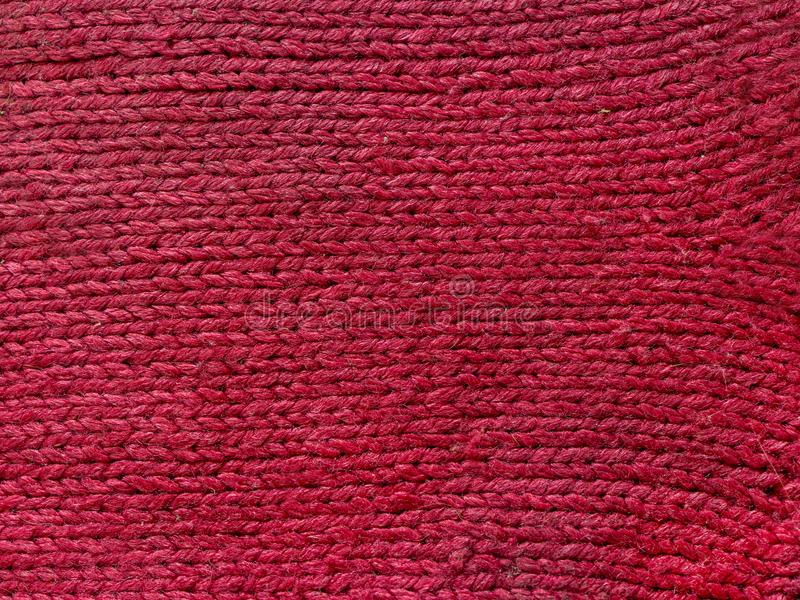Pink knitted wool texture can use as background. royalty free stock images