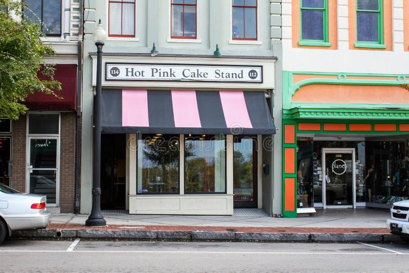 Pink-Kuchen-Stand, Wilmington, North Carolina lizenzfreie stockfotografie