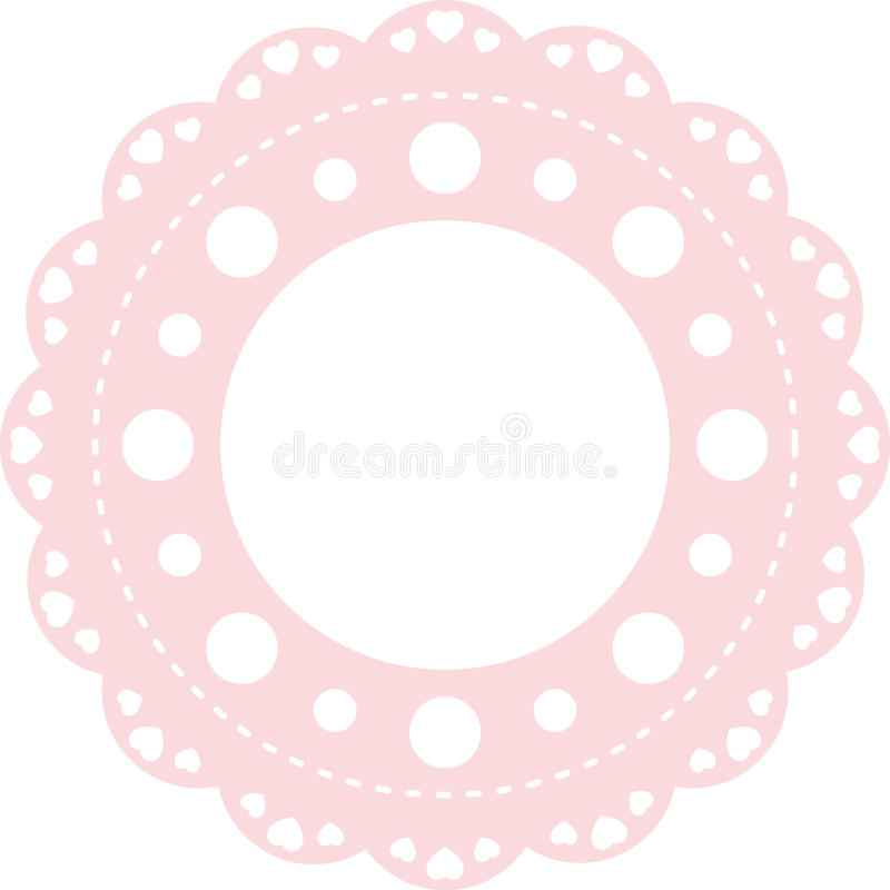 Pink Lace Stock Photography
