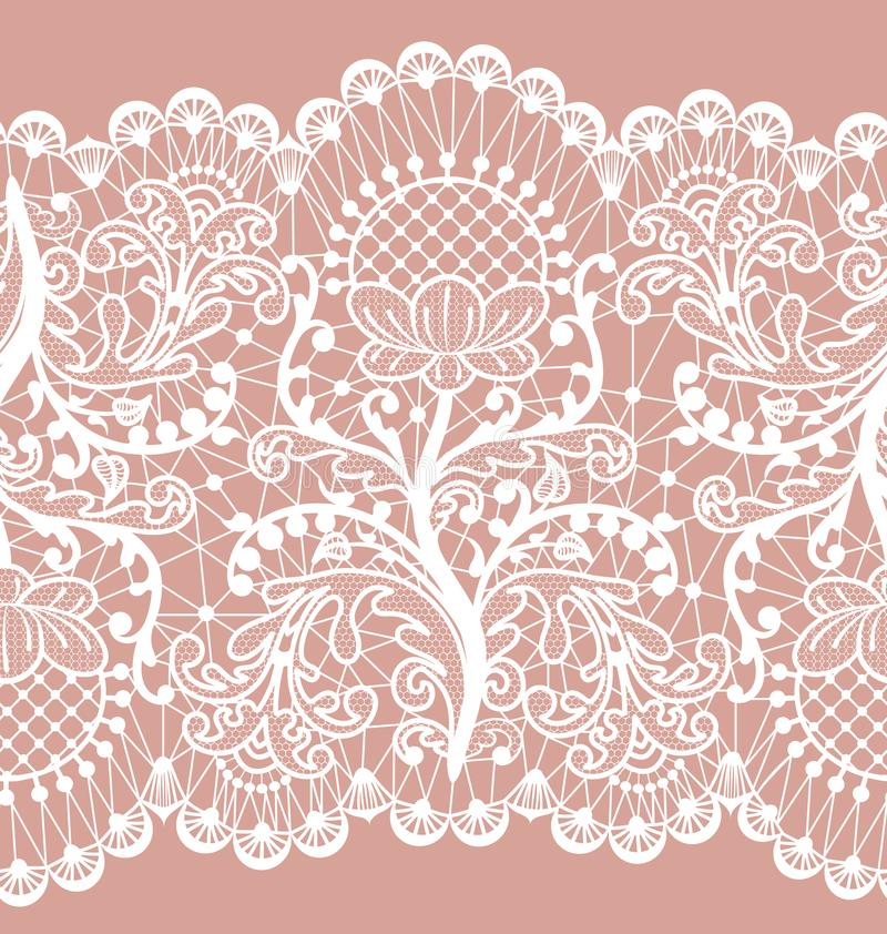 Pink lace stock illustration