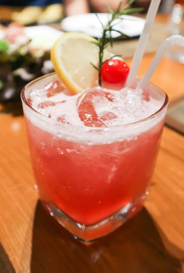 Free Pink Lady Or Ginsling Cocktail Royalty Free Stock Images - 104682759
