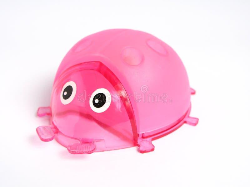 Pink Ladybug Pencil Holder Royalty Free Stock Image