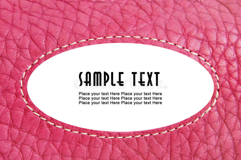 Pink Leather Stock Photos