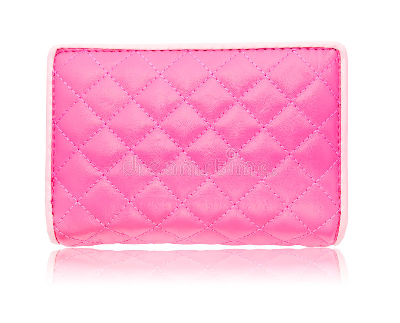 Pink leather bag royalty free stock image
