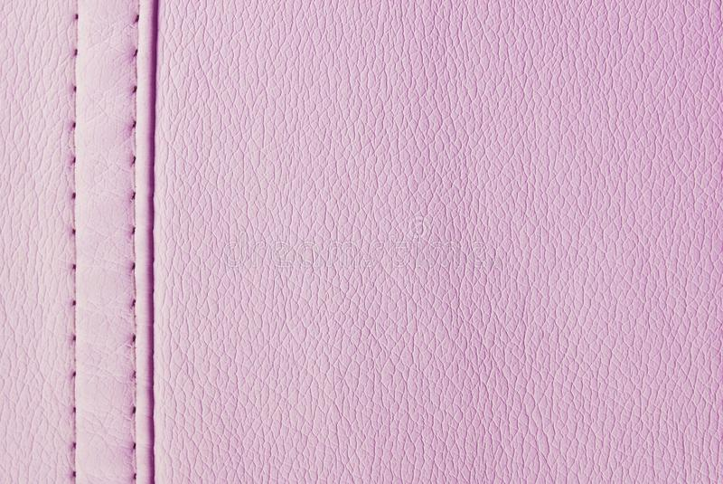Pink leather texture stock images