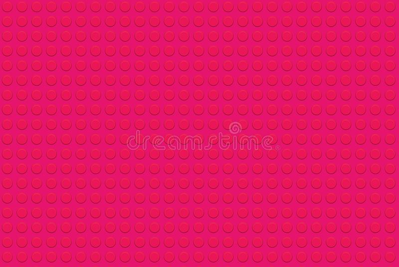 Pink Lego background . Color, circles, dots, toy, game, wall, wallpaper, backdrop, new, art, print, decor, home, room, flooy, fun, joy, beautiful, concept royalty free stock images