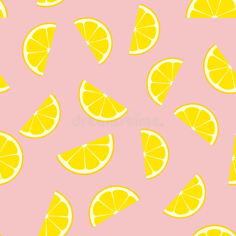 Pink Lemonade Seamless Vector Pattern Tile. stock illustration