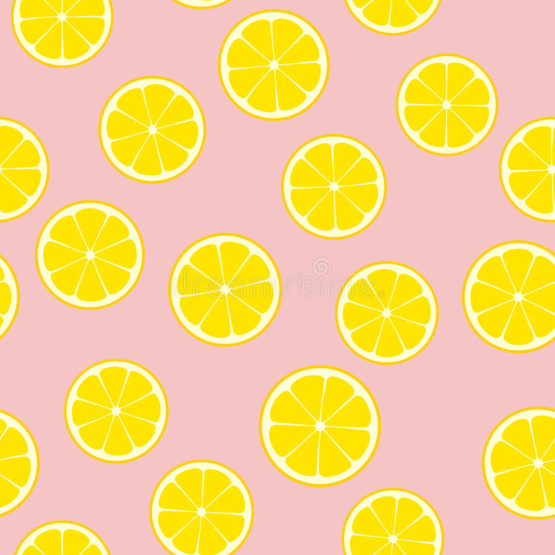 Pink Lemonade Seamless Vector Pattern Tile. vector illustration