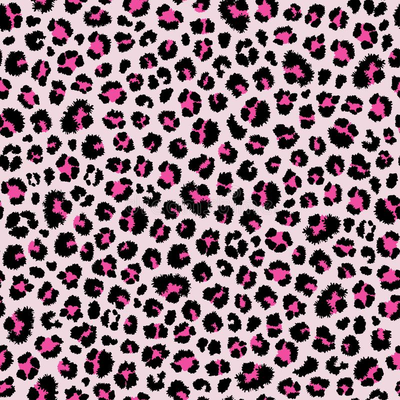 Leopard seamless pattern. Animal print. Vector background. Pink leopard seamless pattern. Animal print. Fashion background. Vector eps10 royalty free illustration