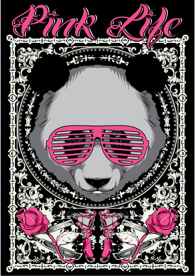 Pink life royalty free illustration