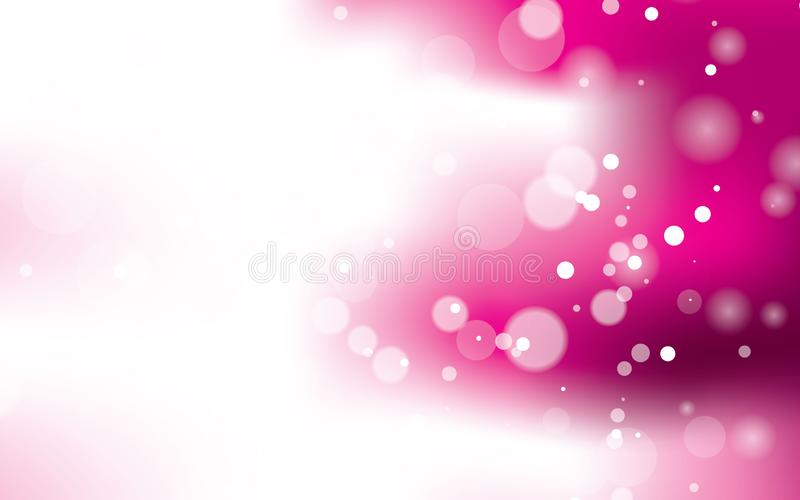 Pink light bokeh abstract geometric background vector vector illustration
