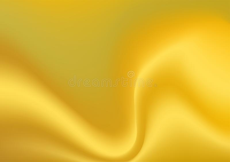 Abstract flow metallic gold texture color background. Metallic gold color background, vector illustration. Abstract flow and smooth texture background design vector illustration