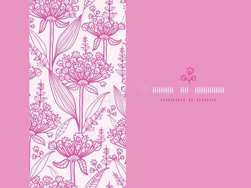 Download Pink Lillies Lineart Horizontal Seamless Pattern Stock Vector - Image: 30475976