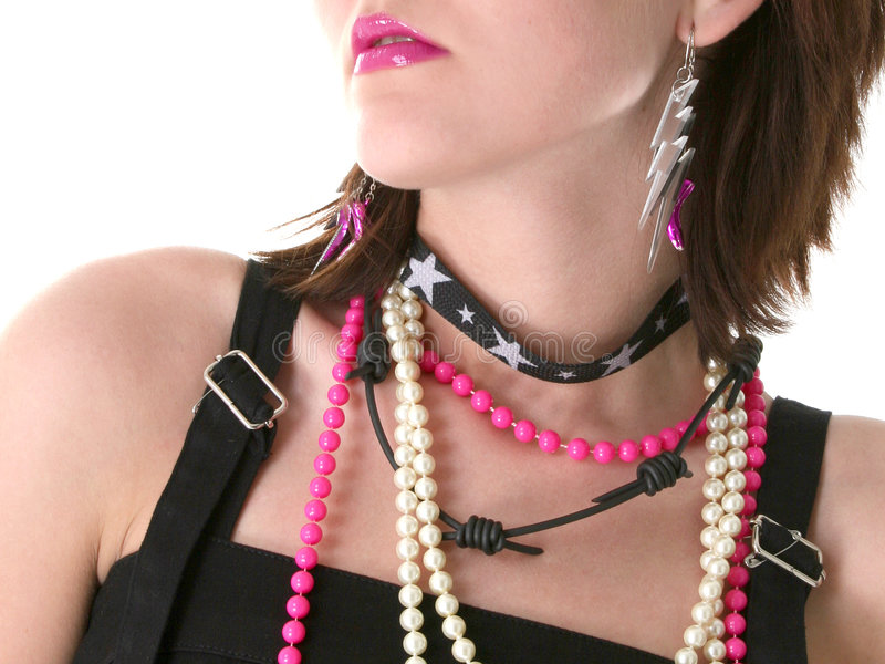 Download Pink Lips stock image. Image of bead, close, adornment - 255531