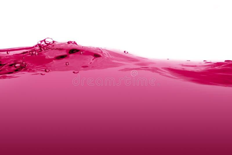 Pink liquid wave stock photo