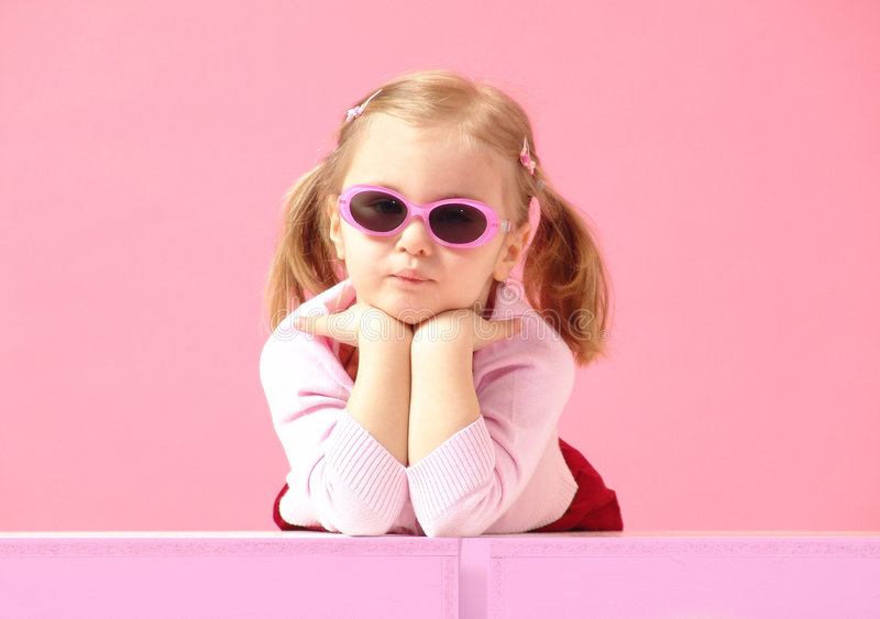 Pink little woman royalty free stock photography