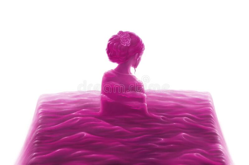 Pink of loneliness vector illustration