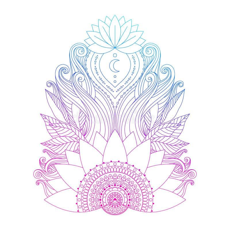Pink lotus flower isolated stock illustration illustration of download pink lotus flower isolated stock illustration illustration of buddhism 117995950 mightylinksfo
