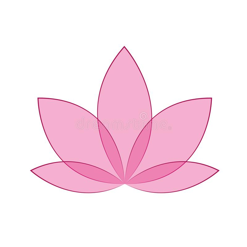 Pink lotus flower isolated on white background. Vector illustration EPS10 royalty free illustration