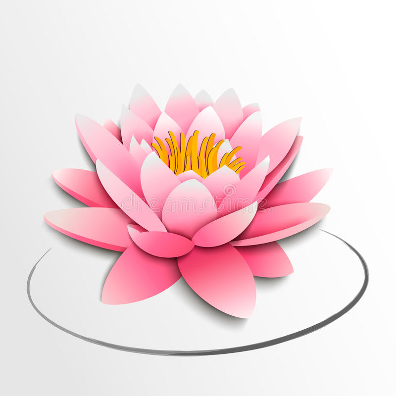 Free Pink Lotus Flower. Paper Cutout Royalty Free Stock Photos - 30197448