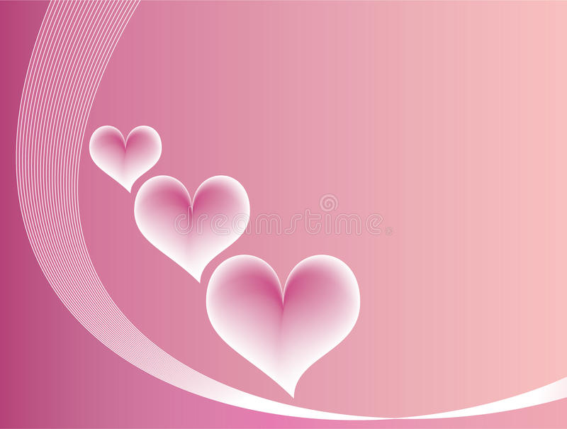Pink love background stock photo