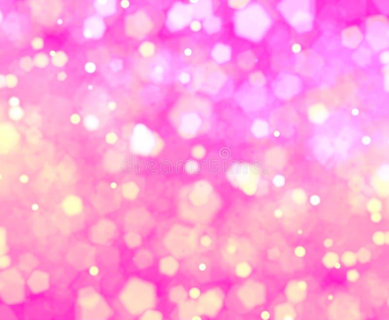 Pink of love bokehs background stock illustration