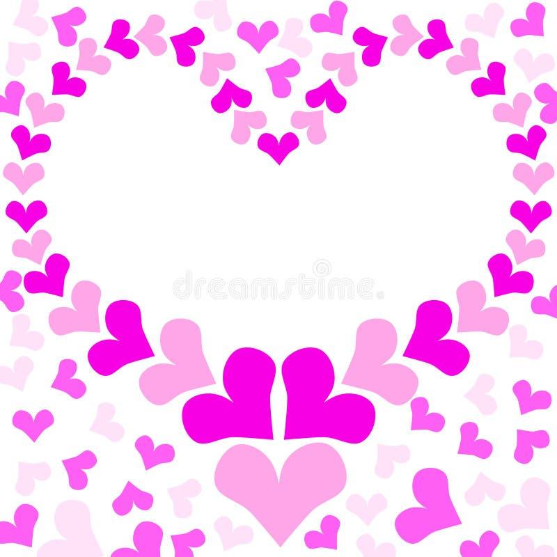 Pink Love Heart Frame stock illustration. Illustration of decoration ...