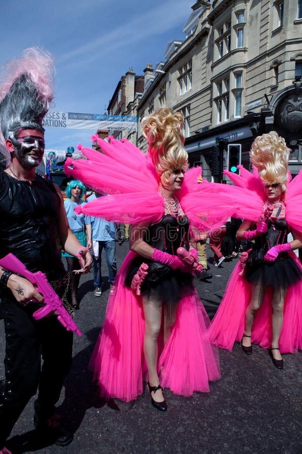Pink Lovers in Brighton Gay Pride 2011 stock photo