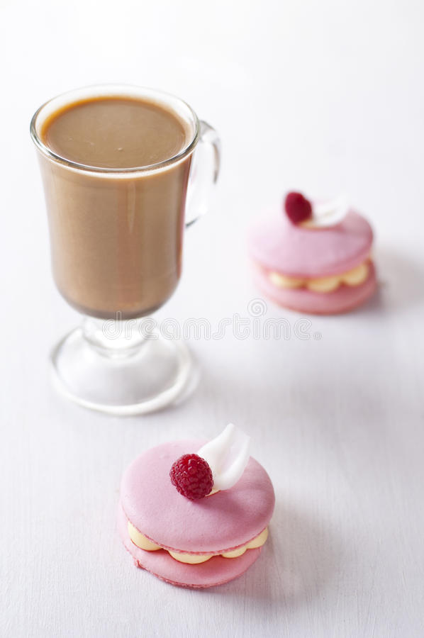 Download Pink Macaron And Cup Of Coffee Stock Image - Image: 26776119