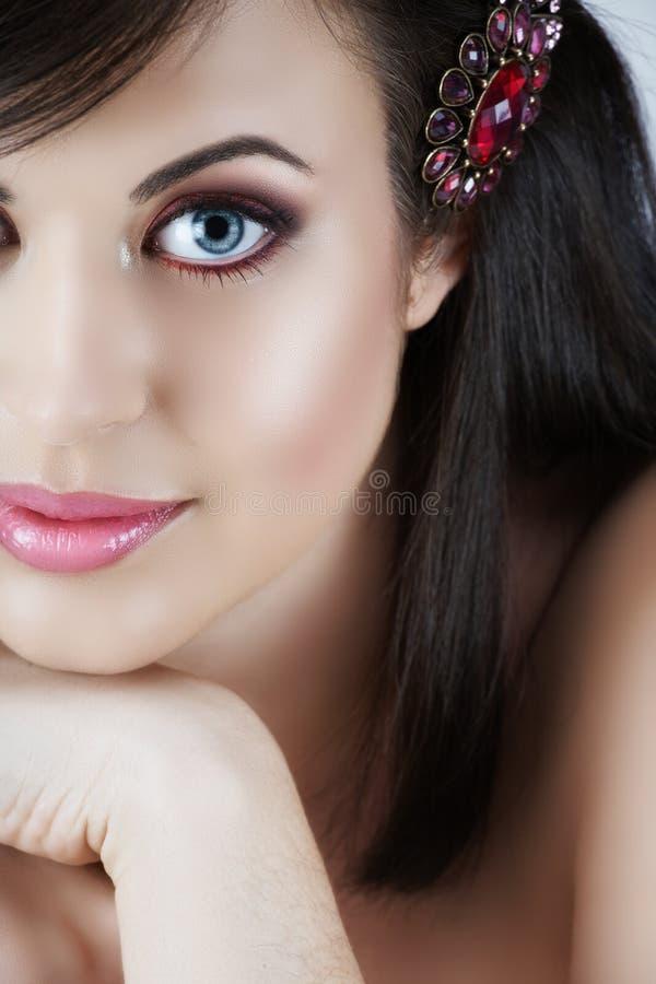 Pink make-up woman stock image