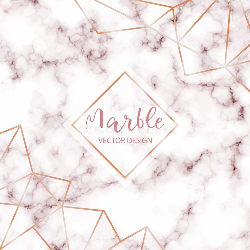 Pink Marble design template with abstract gold decorations for invitation, banners, greeting card, etc. vector illustration