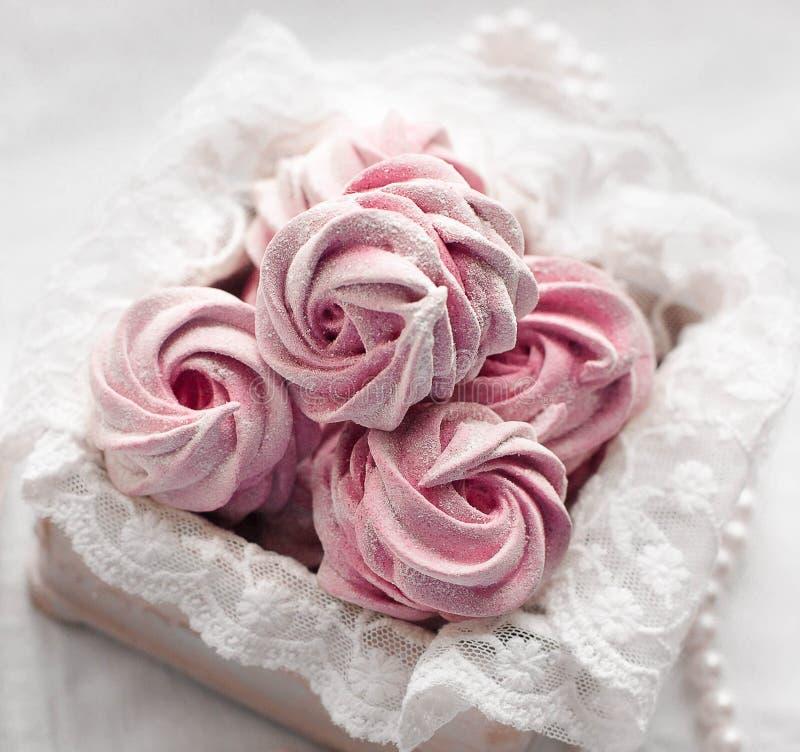 Pink marshmallow stock photo