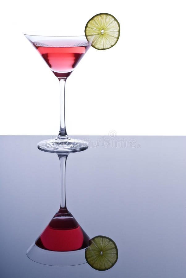 Free Pink Martini With A Slice Of Lime Stock Image - 17749741